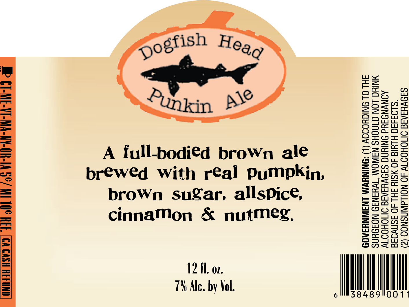 The original Dogfish Head Punkin Ale label.