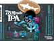 The latest Dogfish Head 75 Minute IPA label by Michael Hacker.