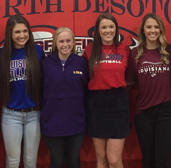 North DeSoto foursome signs scholarship papers