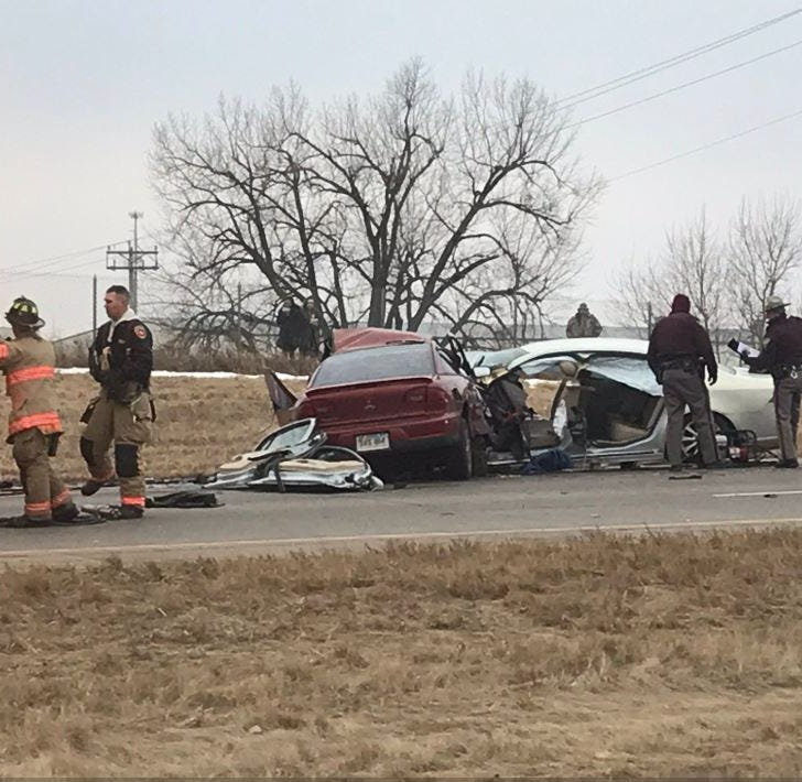 Woman, 25, killed in Sioux Falls head-on collision on I-229