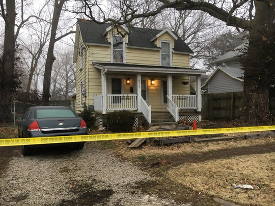 Police are investigating a homicide at a home in the 900 block of West Locust Street on Tuesday, January 15, 2019.