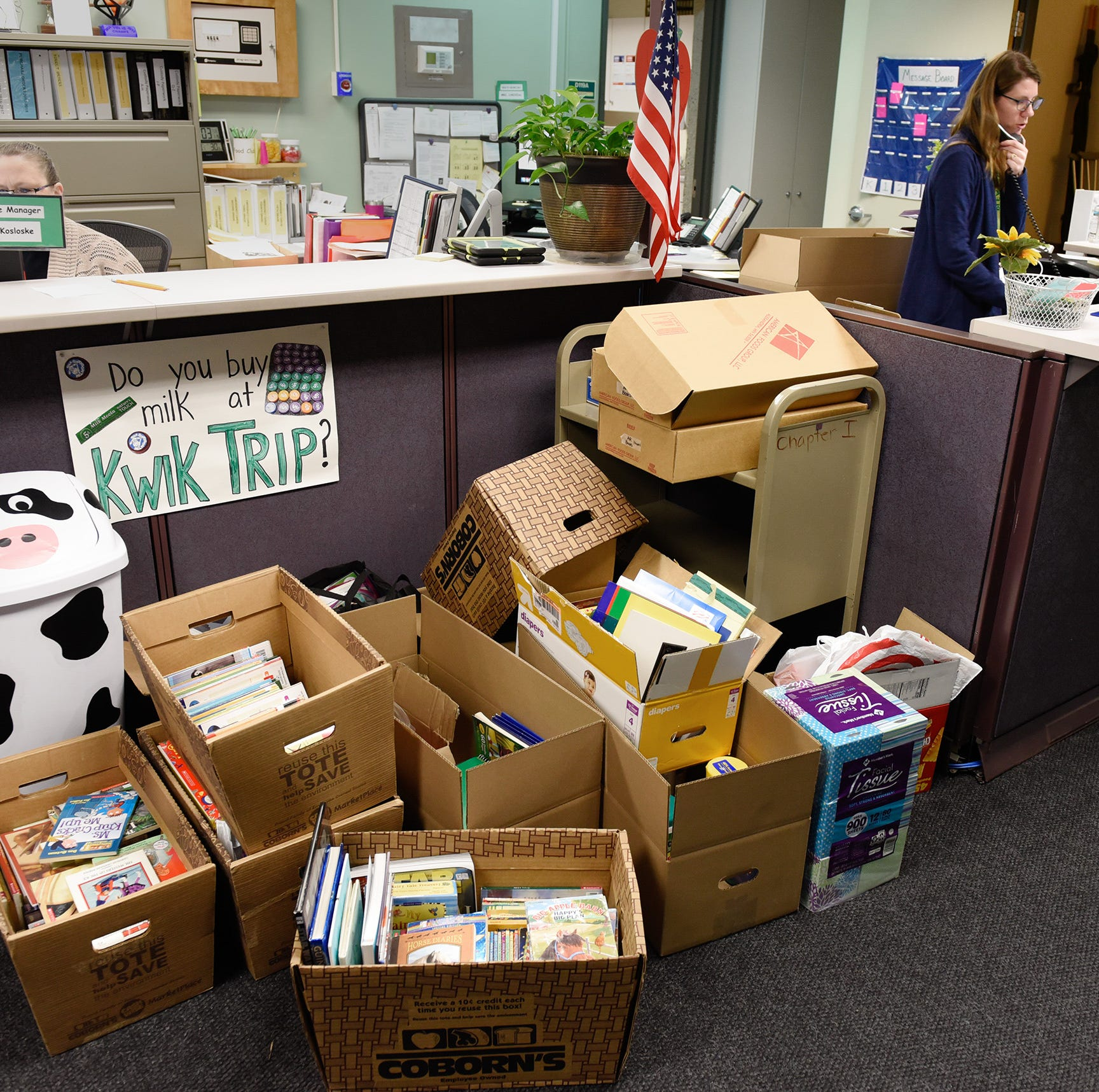 Community rallies around Pleasantview with donations for school after fire