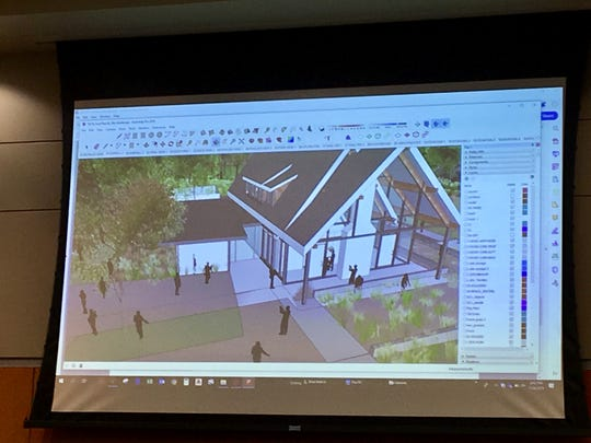 A rendering of a larger structure proposed for Southside Park in Sauk Rapids, presented by Confluence consulting firm.
