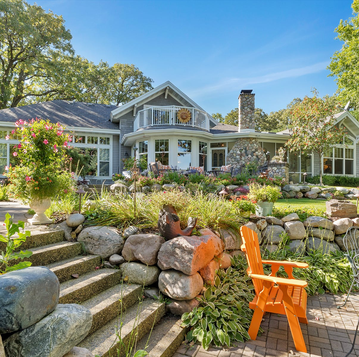 Mansion on the market: Beautiful landscaping on Green Lake