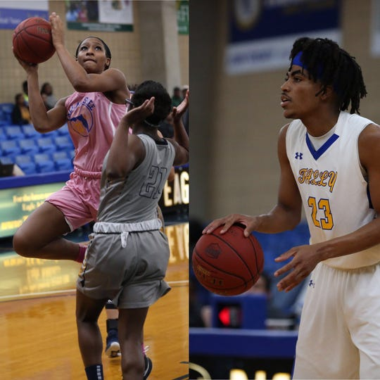 Tallahassee Community College's Jada Perry (left) and Jalen Dalcourt face stiff challenges versus Northwest Florida State College. Both players look to secure conference wins on their home floor.