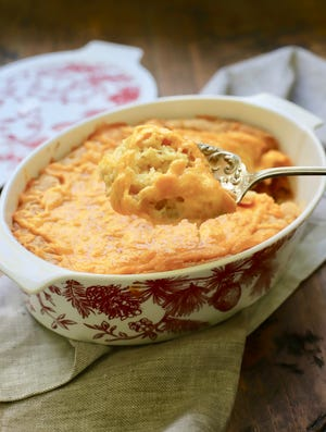 Southern Cheesy Corn Pudding comes together in a jiffy.