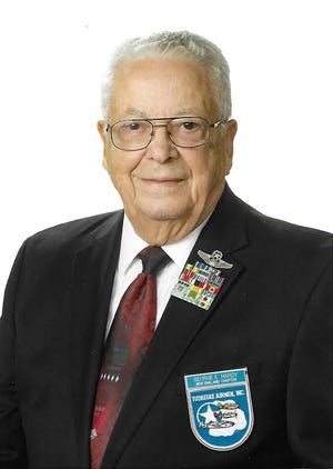Lt. Col. (Ret.) George Hardy, who at 93 is the youngest surviving member of the Tuskegee Airmen, speaks Thursday at Florida A&M  University.