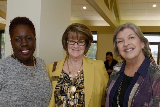 Roxy Brown of Carebag, Sue Chess, with Care Net, and Cathie Mouring of GraceWay Village attended the Council of Social Agencies of St. Lucie's annual luncheon and officer installation.