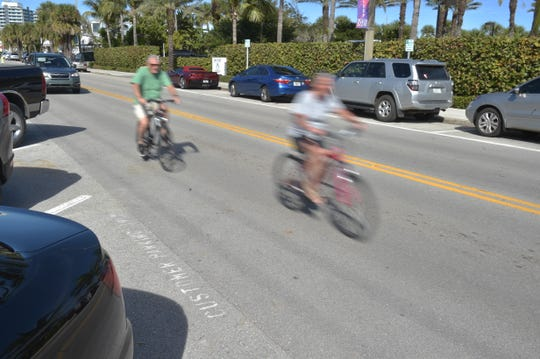 Cyclists enjoy the ride along Ocean Drive in Vero Beach. 24/7 Wall Street listed Vero Beach fourth out of 25 cities with the best weather in the U.S.