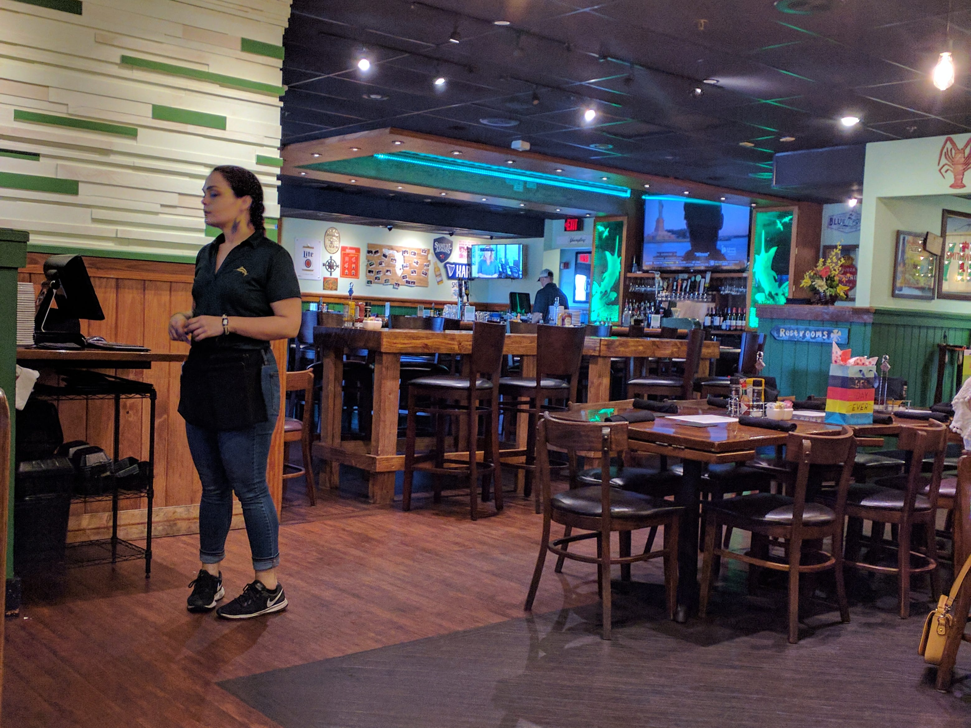 There's plenty of seating at the Green Marlin, located on U.S. 1 in Vero Beach.