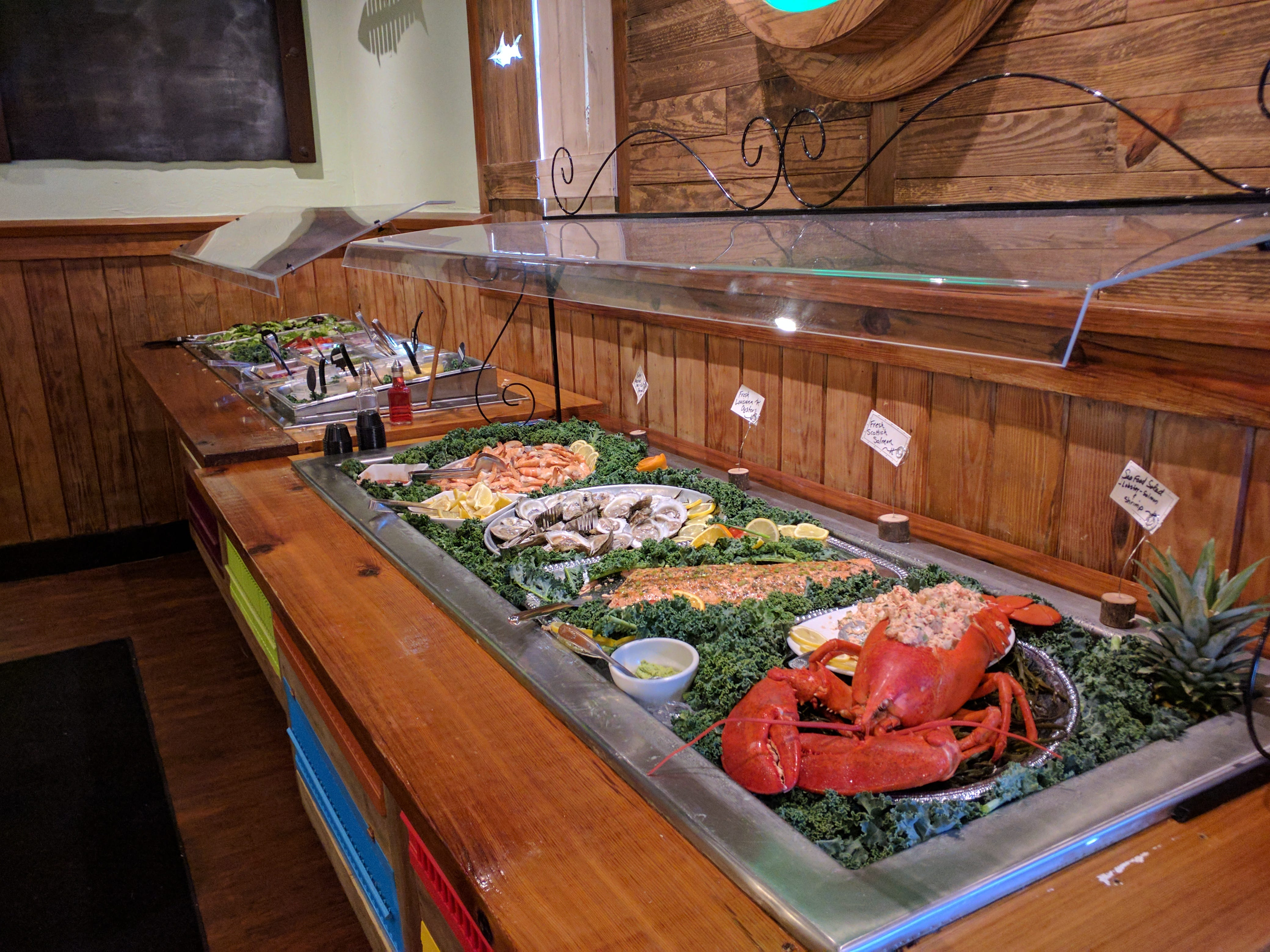 Green Marlin is located on U.S. 1 in Vero Beach and offers a plentiful salad and seafood bar.