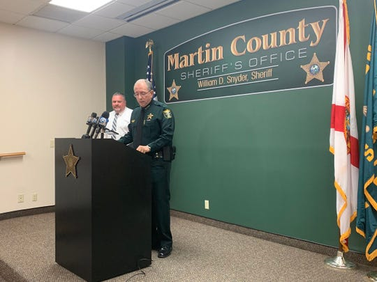 Martin County Sheriff Will Snyder talks about the termination of a deputy Jan. 15, 2019.