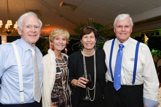 Frank and Patricia Noonan, left, and Drs. Donna and Howard Martin at Hibiscus Children's Center's All That Jazz Casino Night at Mariner Sands Country Club in Stuart.