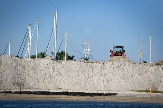 For the past three months, Gator Dredging of Clearwater has removed about 5,000 cubic feet of sand from the entrance channel and boat basin at the Fort Pierce City Marina and redistributed most of that sand on Tern Island, one of the man-made islands built in the Indian River Lagoon to protect the marina that was damaged by Hurricane Matthew in 2016 and Hurricane Irma in 2017. The project cost nearly $400,000 and should be completed by the end of January.