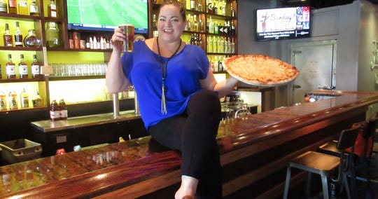 Angela Novak with some of the offerings at Southern Social.