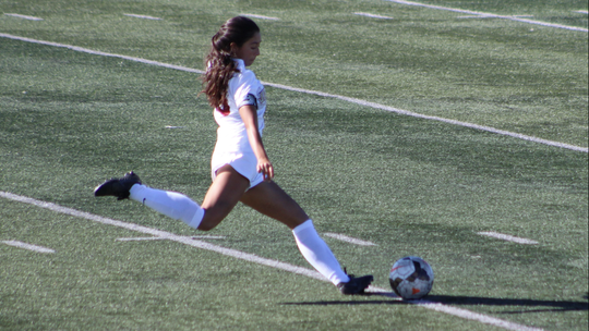 Central defender Citlali Zambrano is the senior leader of this year's young Oxnard High girls soccer team.