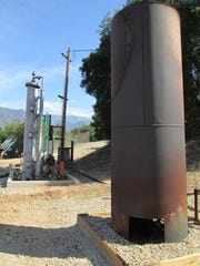 This flare is part of the petroleum operation near Ojai.