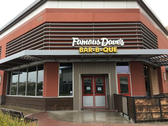 Famous Dave's Bar-B-Que has closed after five years of business at The Collection at RiverPark in Oxnard.