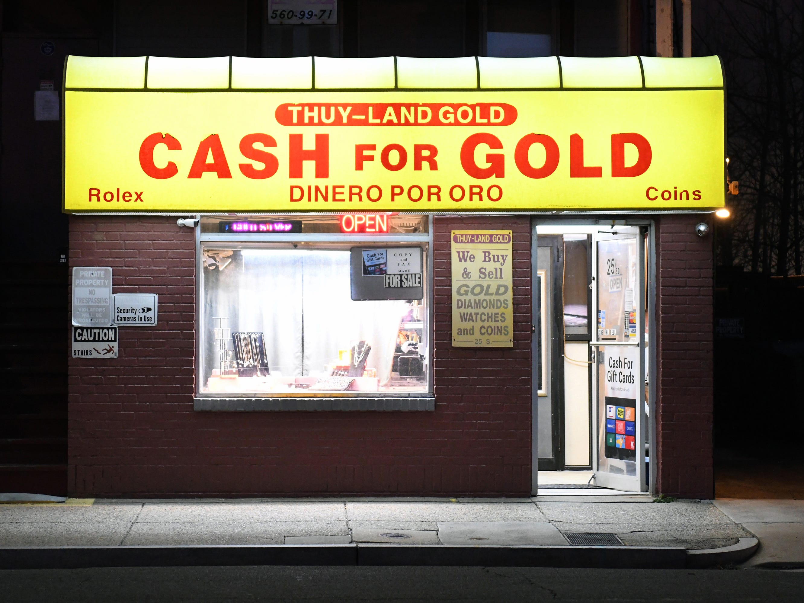 Thuy-Land Gold, a jewerly store specializing in cash for gold, is pictured here on Dr. Martin Luther King Jr. Boulevard in Atlantic City on Friday, Jan. 11, 2019.