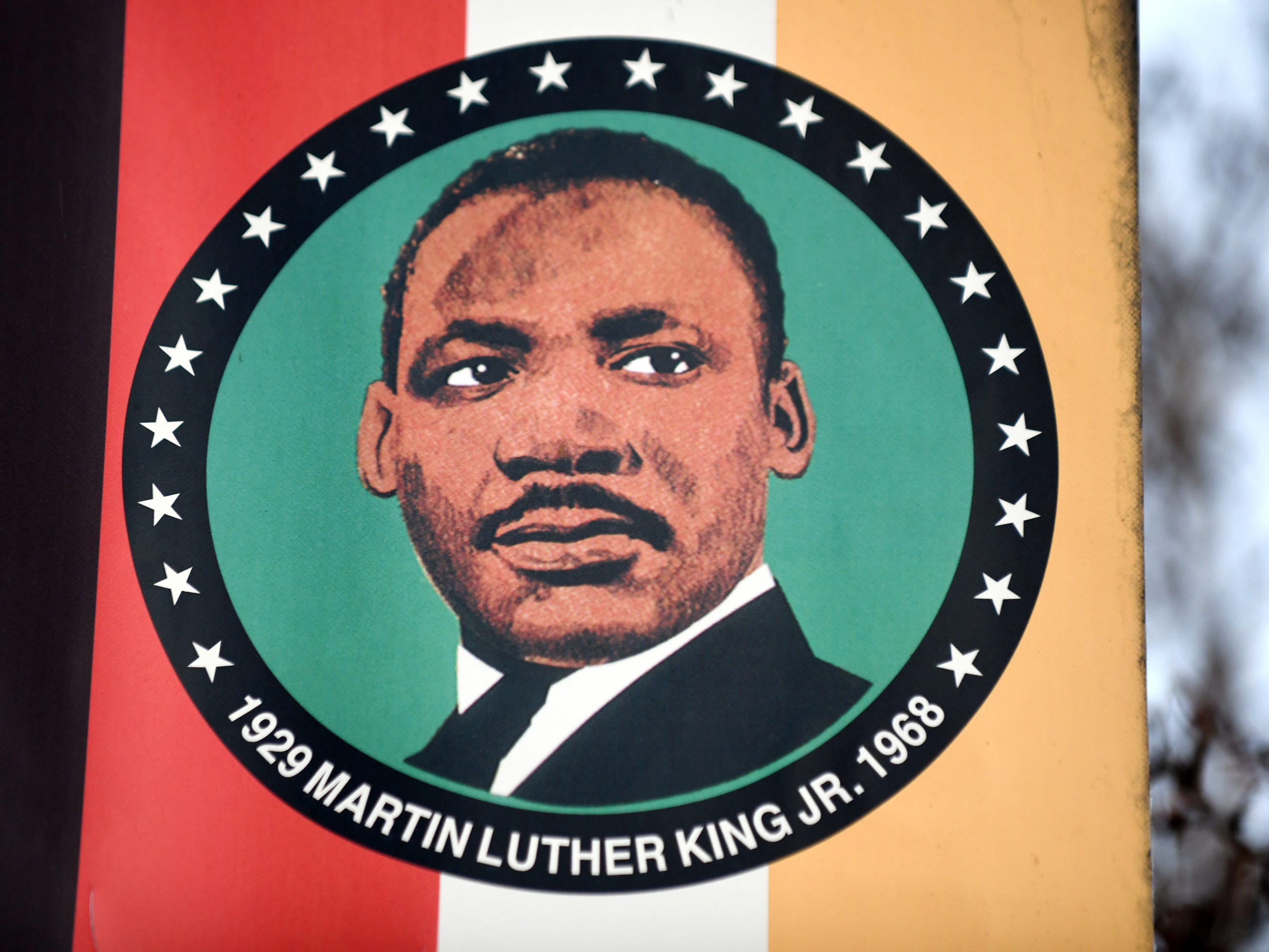 A closeup shot of a Dr. Martin Luther King Jr. Boulevard street banner pictured here on Friday, Jan. 11, 2019.