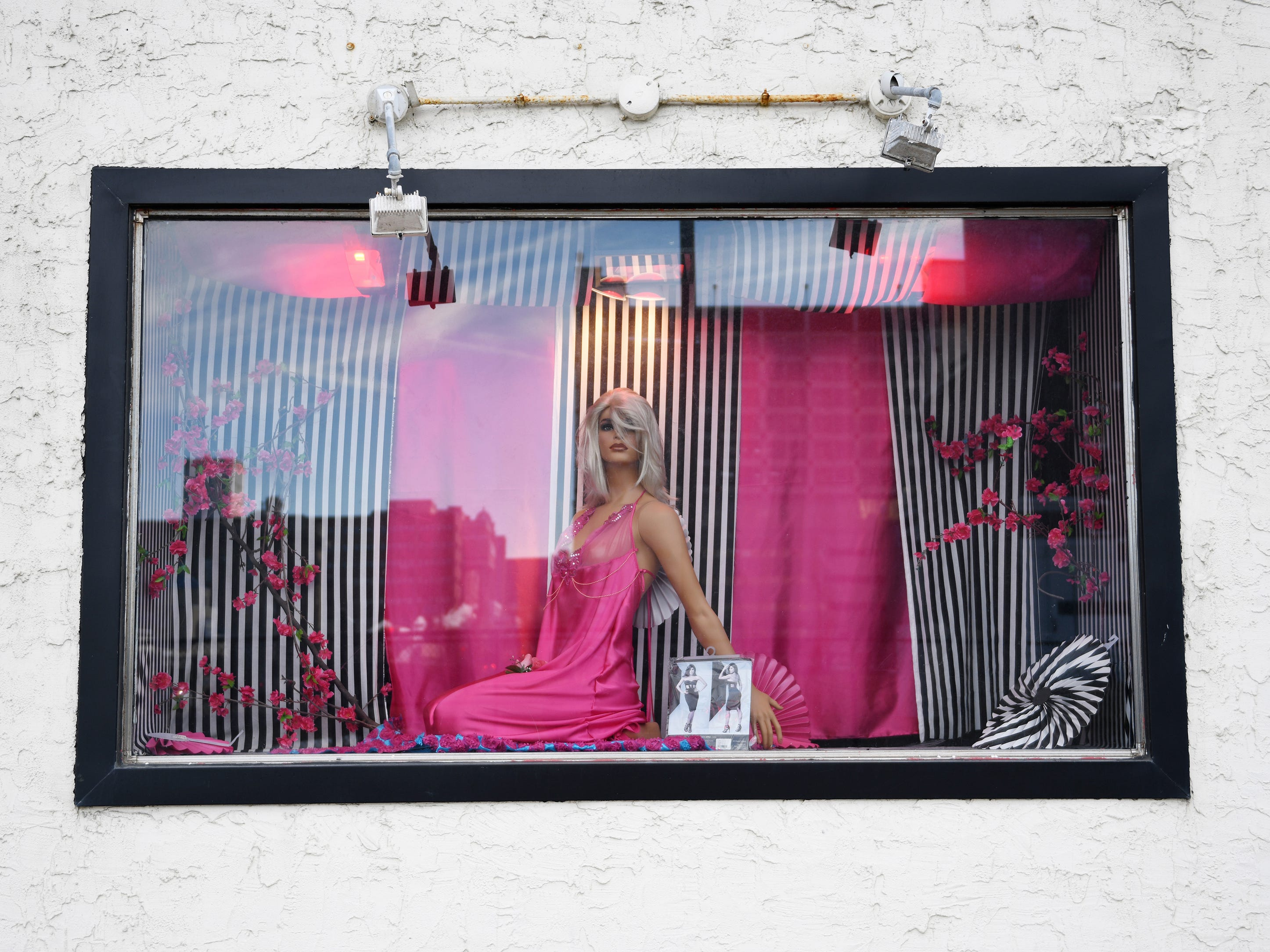 A window display for a adult toy store shows a mannequin wearing lingerie along Dr. Martin Luther King Jr. Boulevard in Atlantic City on Friday, Jan. 11, 2019.