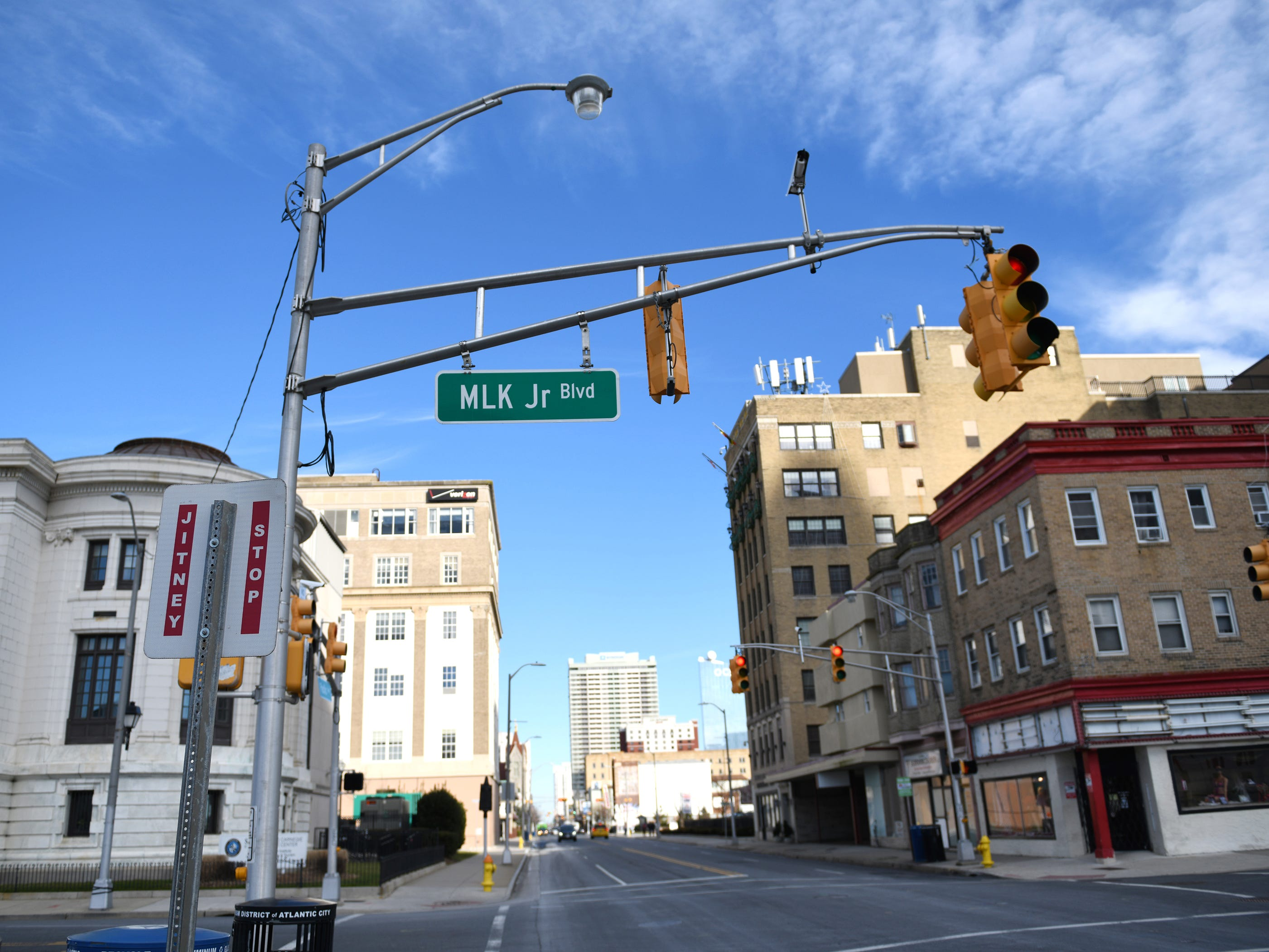 The crosswalk at the corner of Pacific Avenue and Dr. Martin Luther King Jr. Boulevard pictured here in Atlantic City on Friday, Jan. 11, 2019.