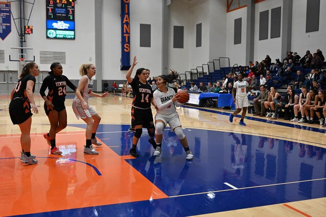 COS' Janelle Sumilong, a Hanford High grad, has been an impact player for the Giants this season.