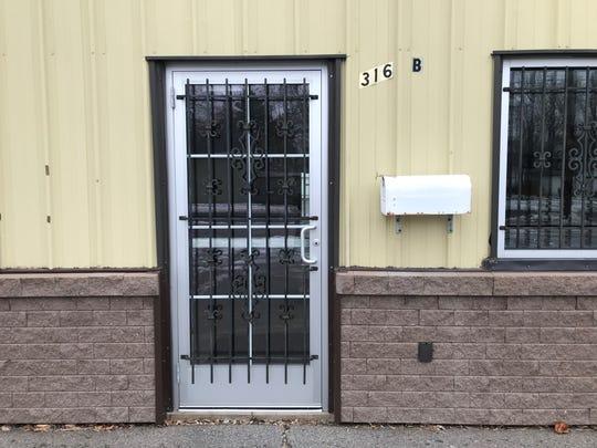 The door at 316 Sherman Street.
