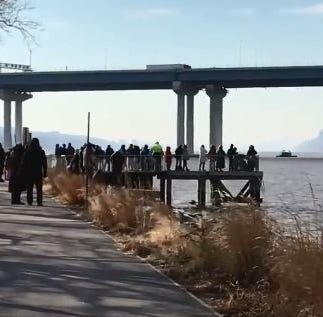 Tappan Zee Bridge demolition: Crowds watch span splash into history