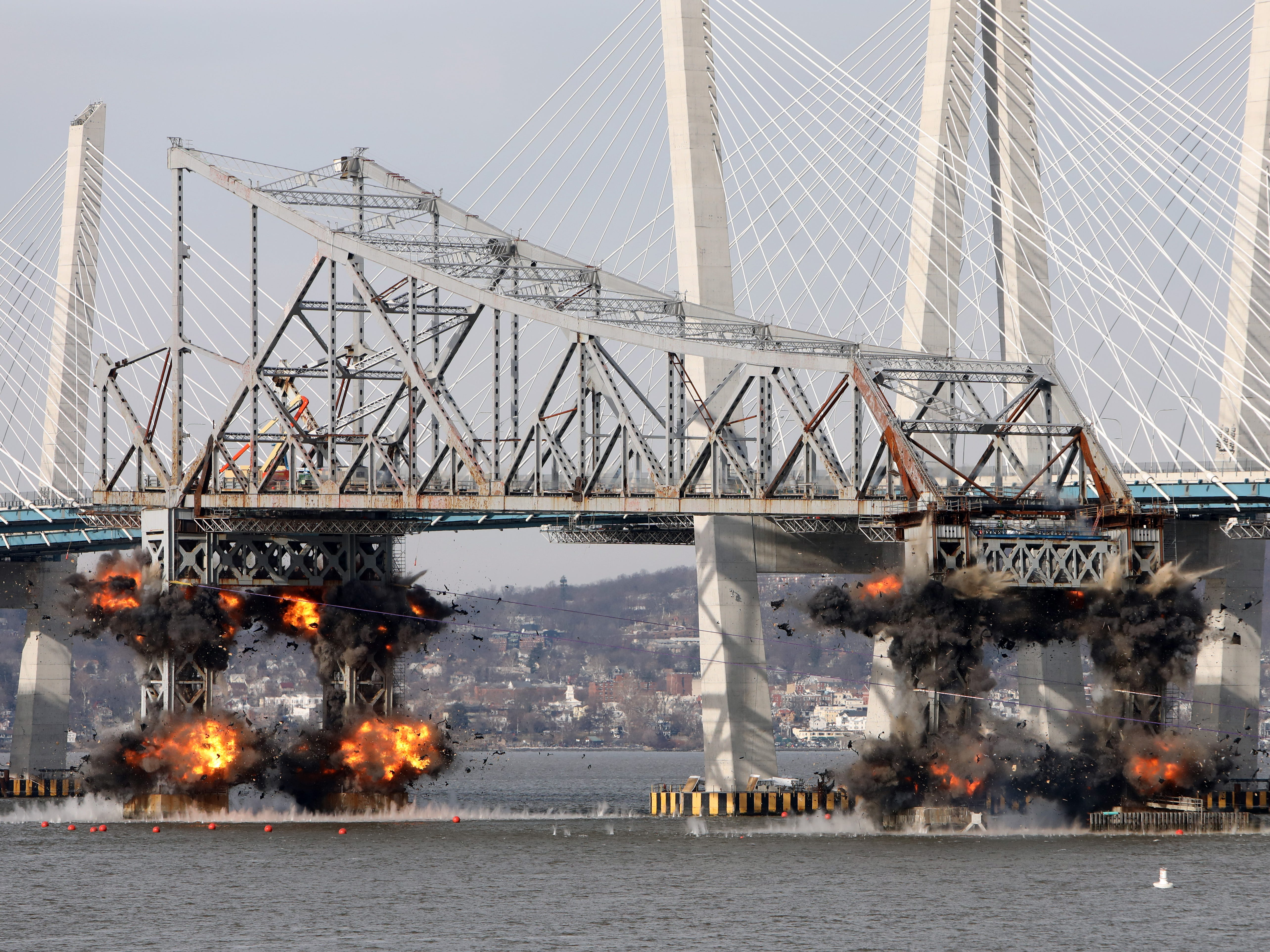 Tappan Zee Bridge demolition: Watch the replay