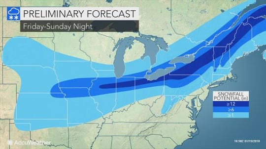 Two snow storms are expected to hit the Lower Hudson Valley on Friday and Sunday.