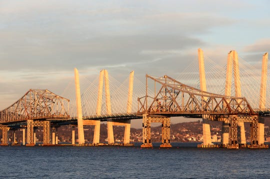 The scene leading up to the eastern side of the Tappan Zee Bridge demolition with explosives, Tuesday, Jan. 15, 2019.