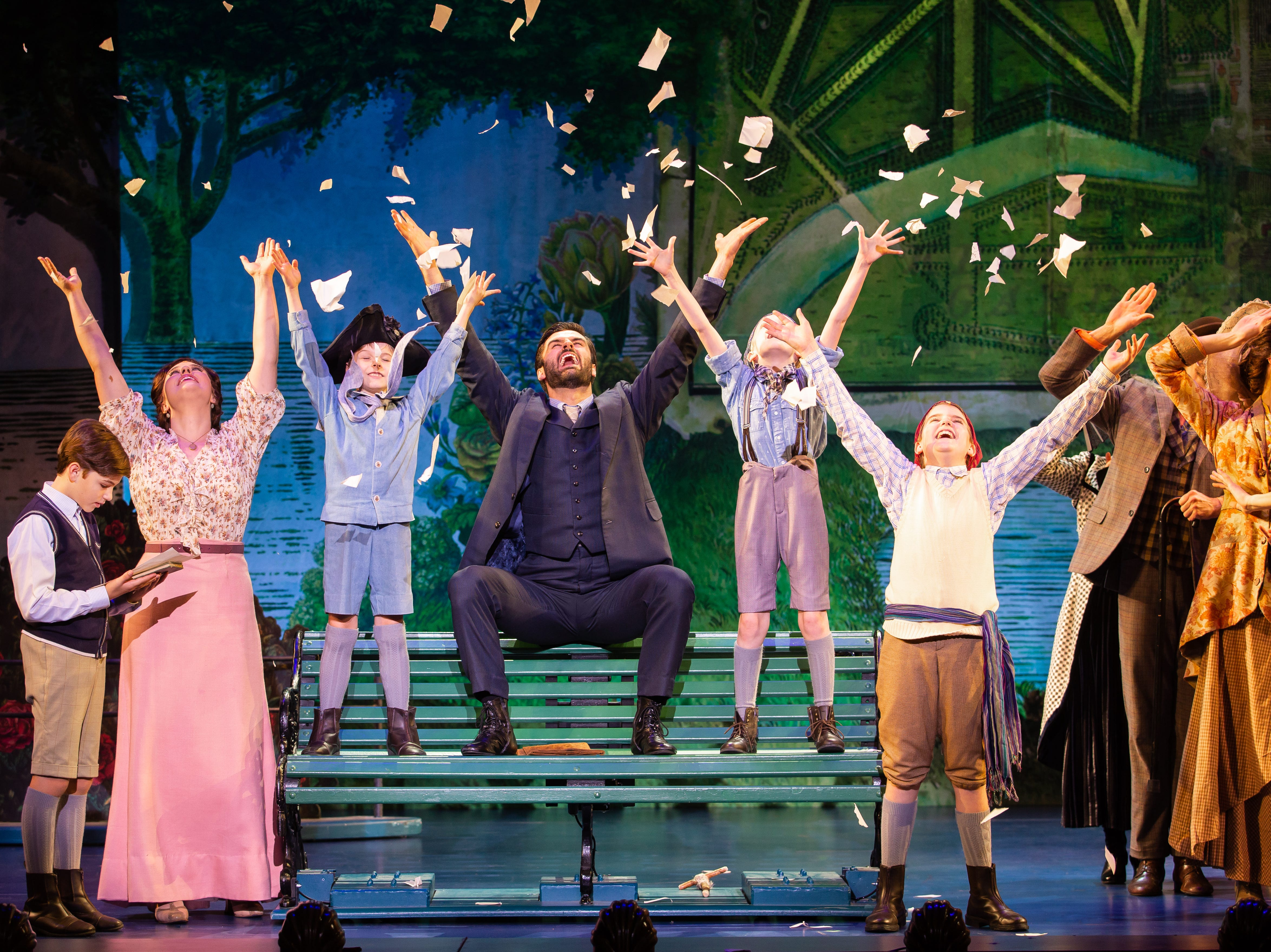 "The cast of ""Finding Neverland,"" which runs at the Playhouse on Rodney Square Feb. 7-10."
