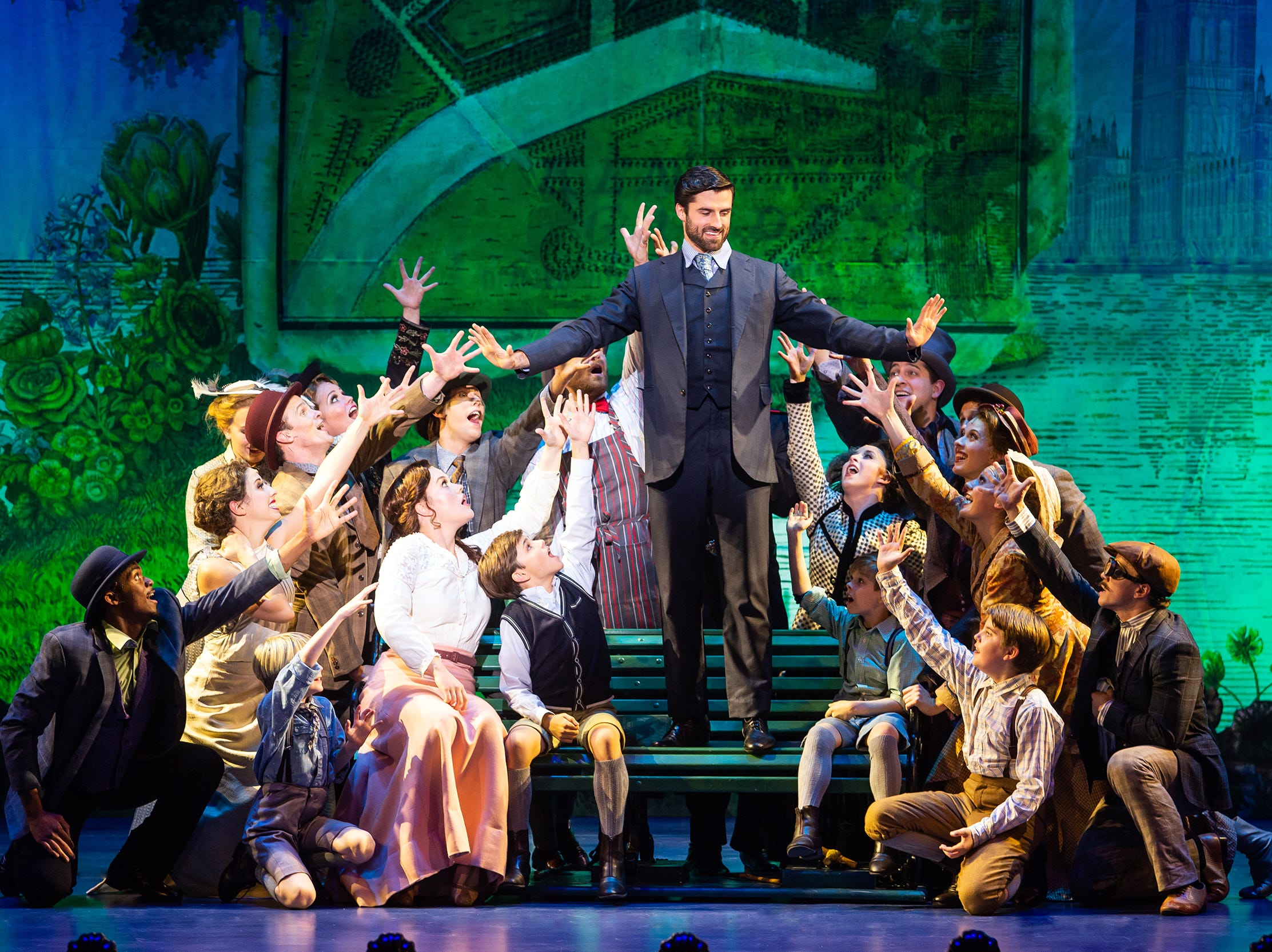 "The company of ""Finding Neverland,"" which runs at the Playhouse on Rodney Square Feb. 7-10."