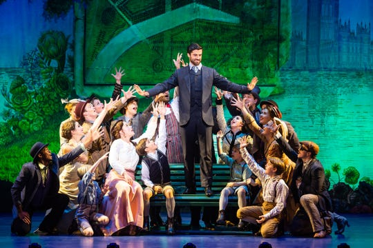 """The company of """"Finding Neverland,"""" which runs at the Playhouse on Rodney Square Feb. 7-10."""