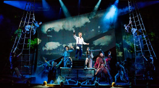 """Conor McGriffin, right as Captain Hook in """"Finding Neverland,"""" which will be at the Playhouse on Rodney Square Feb. 7- 10 in Wilmington."""