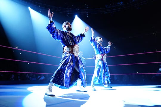 Raw Tag Team Champions Bobby Roode and Chad Gable will defend their belts when WWE Live kicks off at 5 p.m. Sunday at Kay Yeager Coliseum.