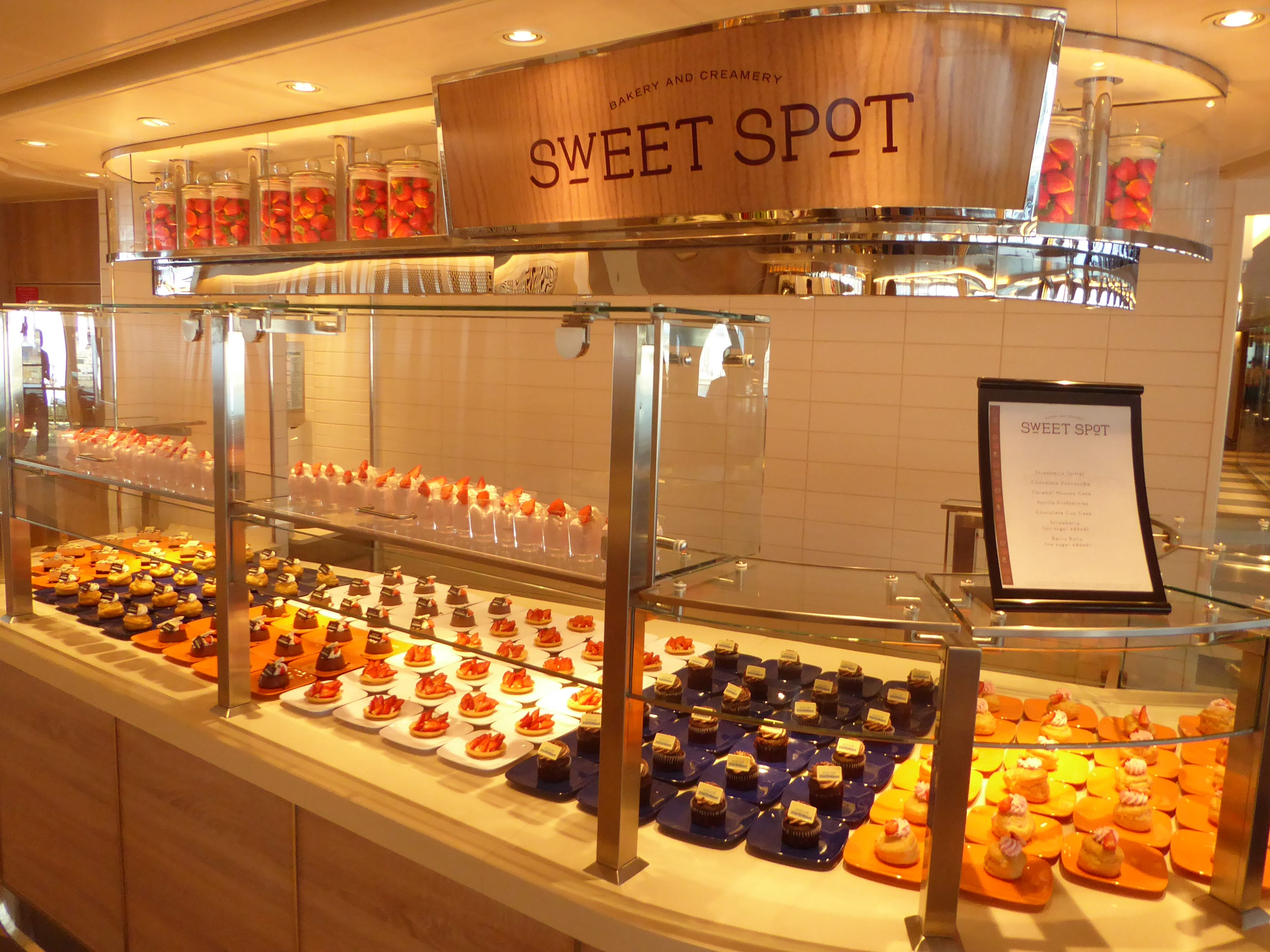 The Sweet Spot is the dessert corner of the Lido Market, offering baked treats including cupcakes, pies and tarts.