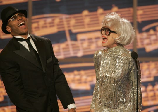 6/6/2004 -- New York -- LL Cool J and Carol Channing perform together before presenting the Tony for Best Original Score at the 58th Annual Tonys Awards at Radio City Music Hall in New York City.   Photo by Robert Deutsch  / USA TODAY