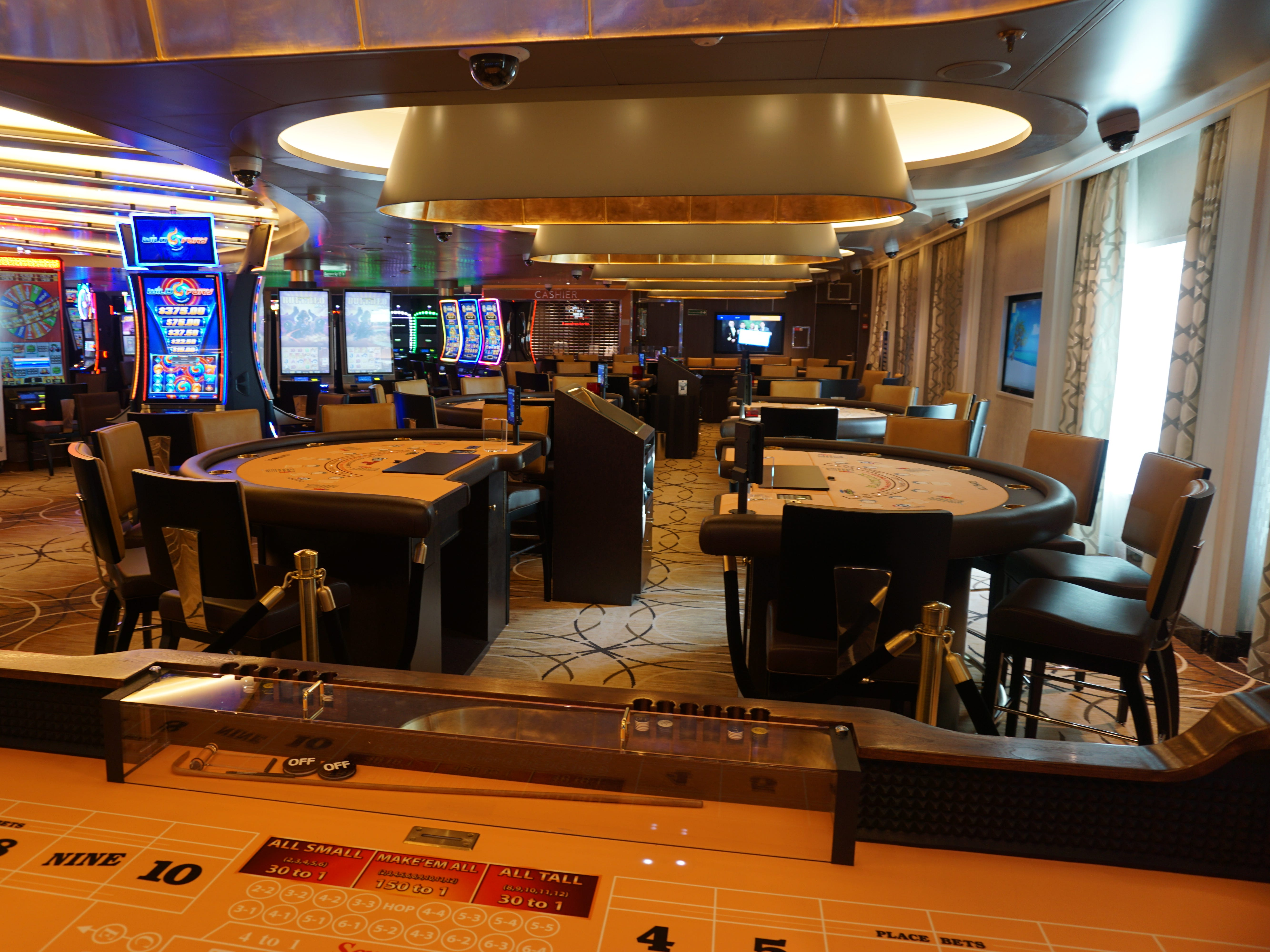 The Casino has slots in addition to roulette, poker, blackjack and other gaming tables.