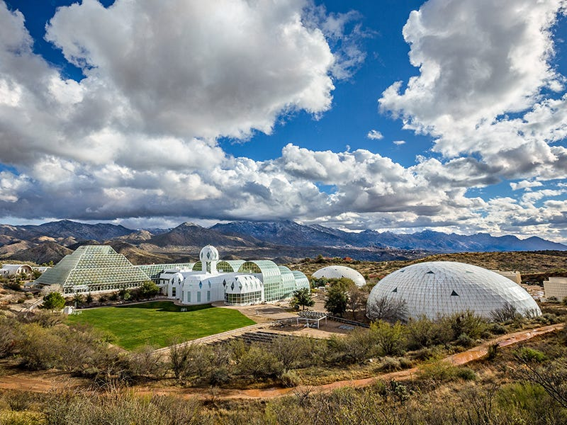 Biosphere 2, Oracle, Arizona: The largest self-contained ecosystem in the world comes with a thorny past, but is now paving the way forward as a site for innovative experiments studying environmental change.