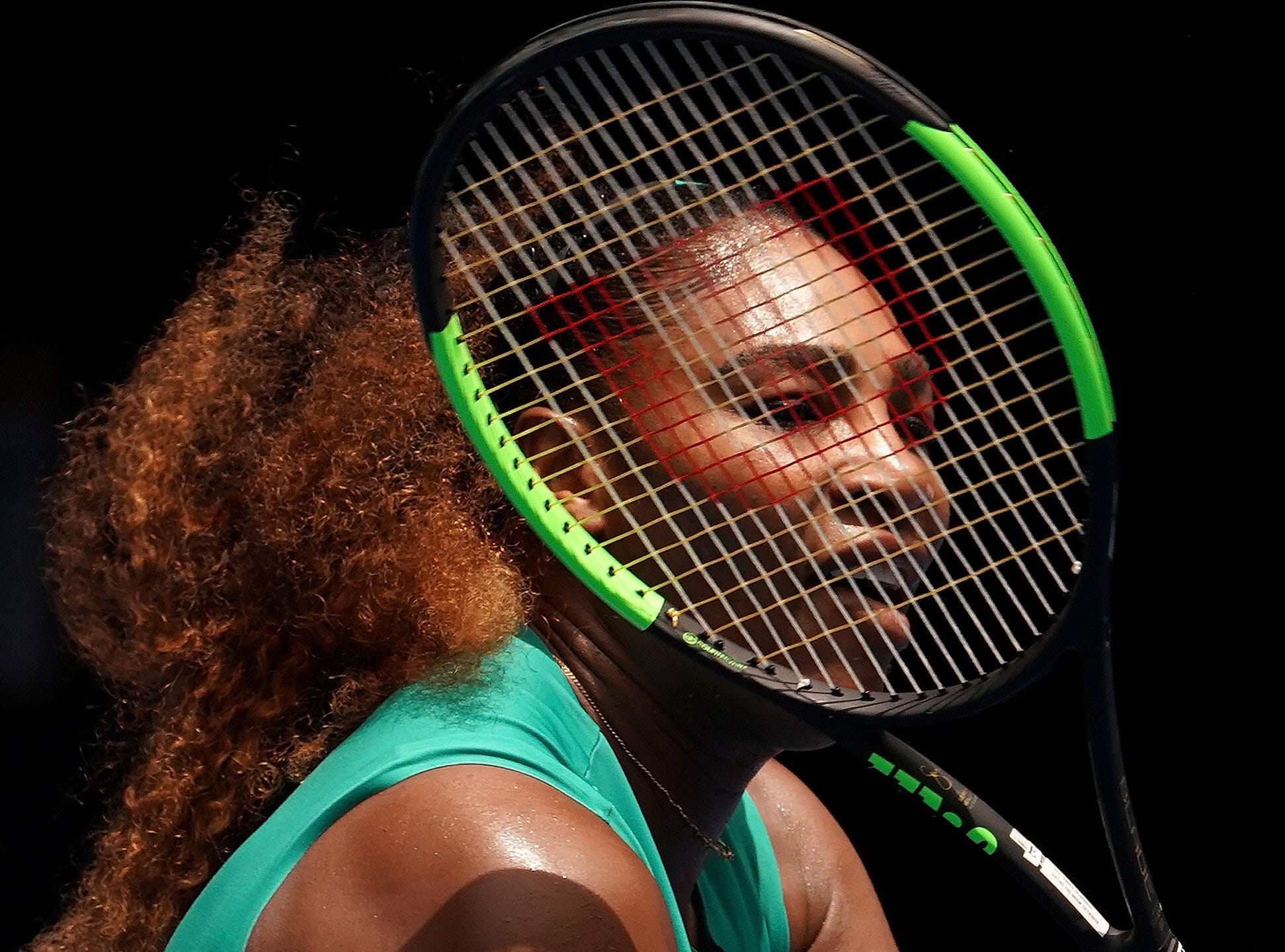 Serena Williams in action against Tatjana Maria on Day 2.