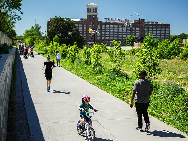 Atlanta BeltLine: Five trails, seven parks and 11 miles link Atlanta neighborhoods that were once divided by railroad tracks. The BeltLine has given life to formerly abandoned warehouses and has infused the city with greenery and open spaces.