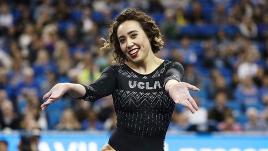 Katelyn Ohashi during an NCAA college gymnastics match Jan. 4, 2019.