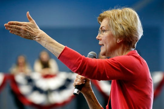 Sen. Elizabeth Warren in Manchester, New Hampshire, on Jan. 12, 2019.