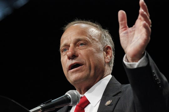 Rep. Steve King, R-Iowa addresses the Republican state convention in Des Moines, Iowa on June 16, 2012.