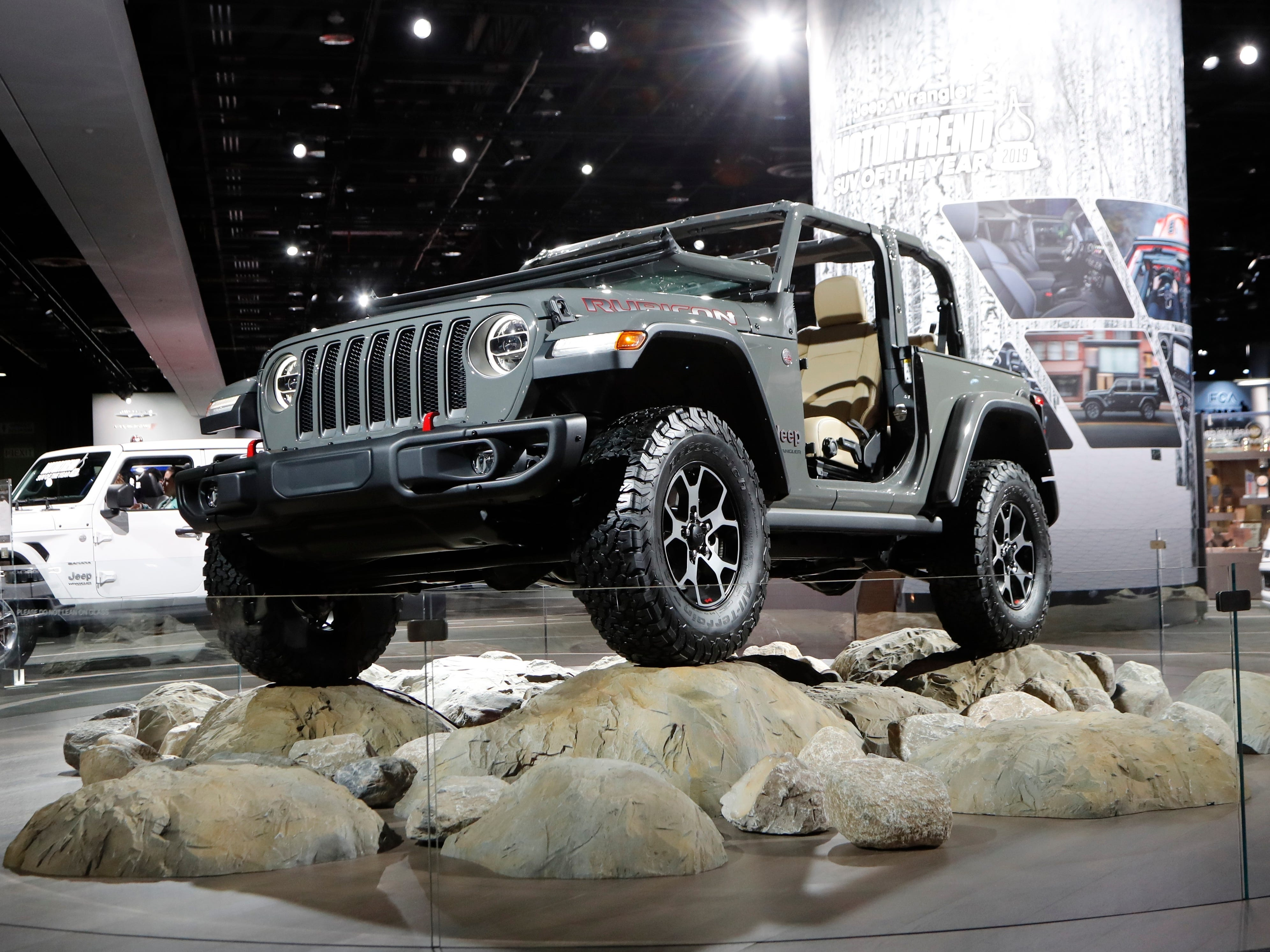 The Jeep Wrangler Rubicon.