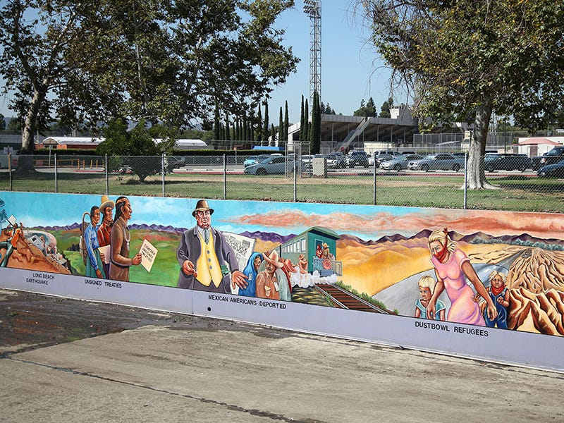 Great Wall of Los Angeles, North Hollywood, California: This mural extending over half a mile long (and still growing) documents California's entire history in colorful, unexpected ways, highlighting the stories of the state's marginalized communities.