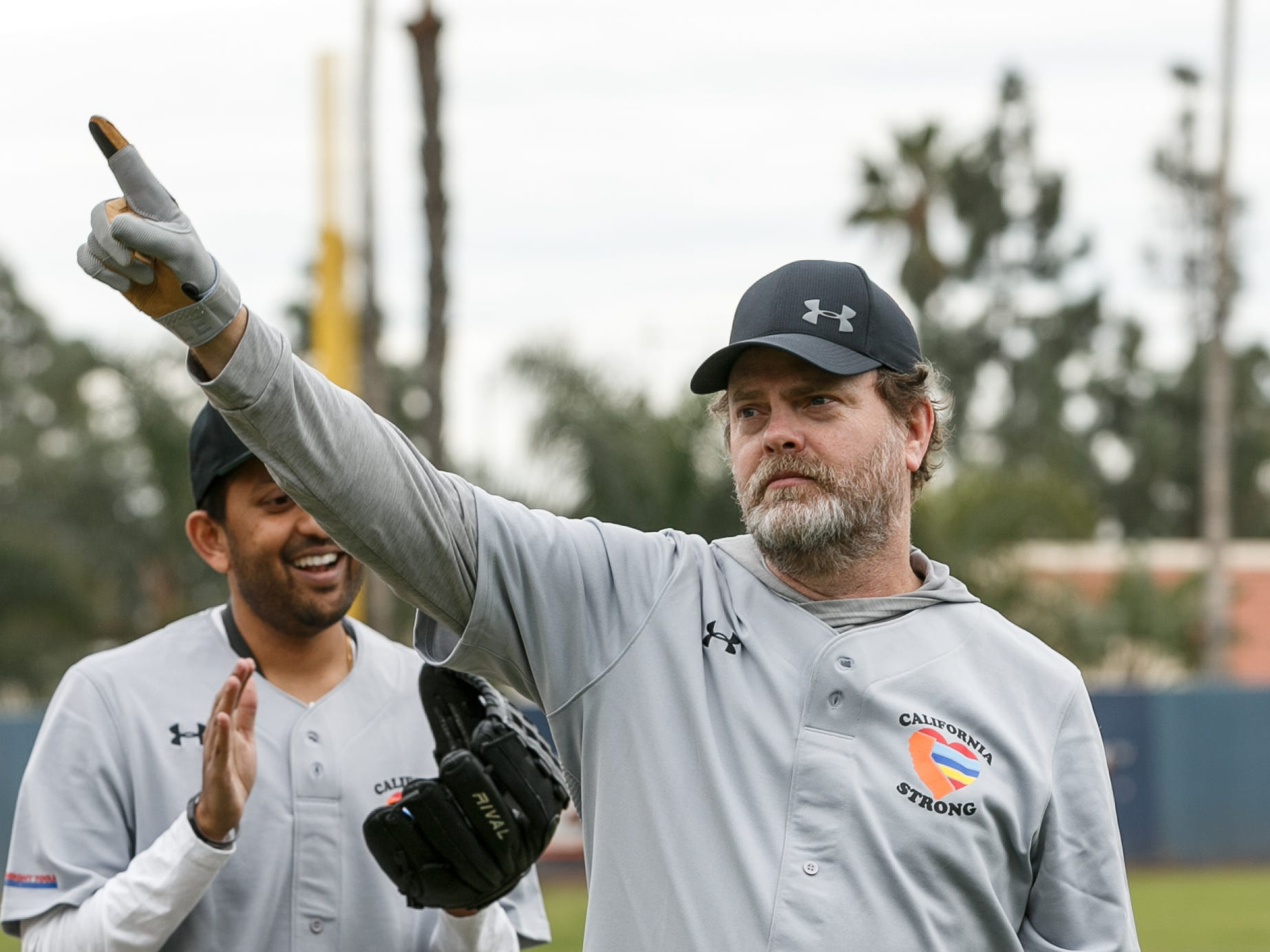 "MALIBU, CALIFORNIA - JANUARY 13:  Rainn Wilson attends a charity softball game to benefit ""California Strong"" at Pepperdine University on January 13, 2019 in Malibu, California. (Photo by Rich Polk/Getty Images for California Strong) ORG XMIT: 775276797 ORIG FILE ID: 1093819524"