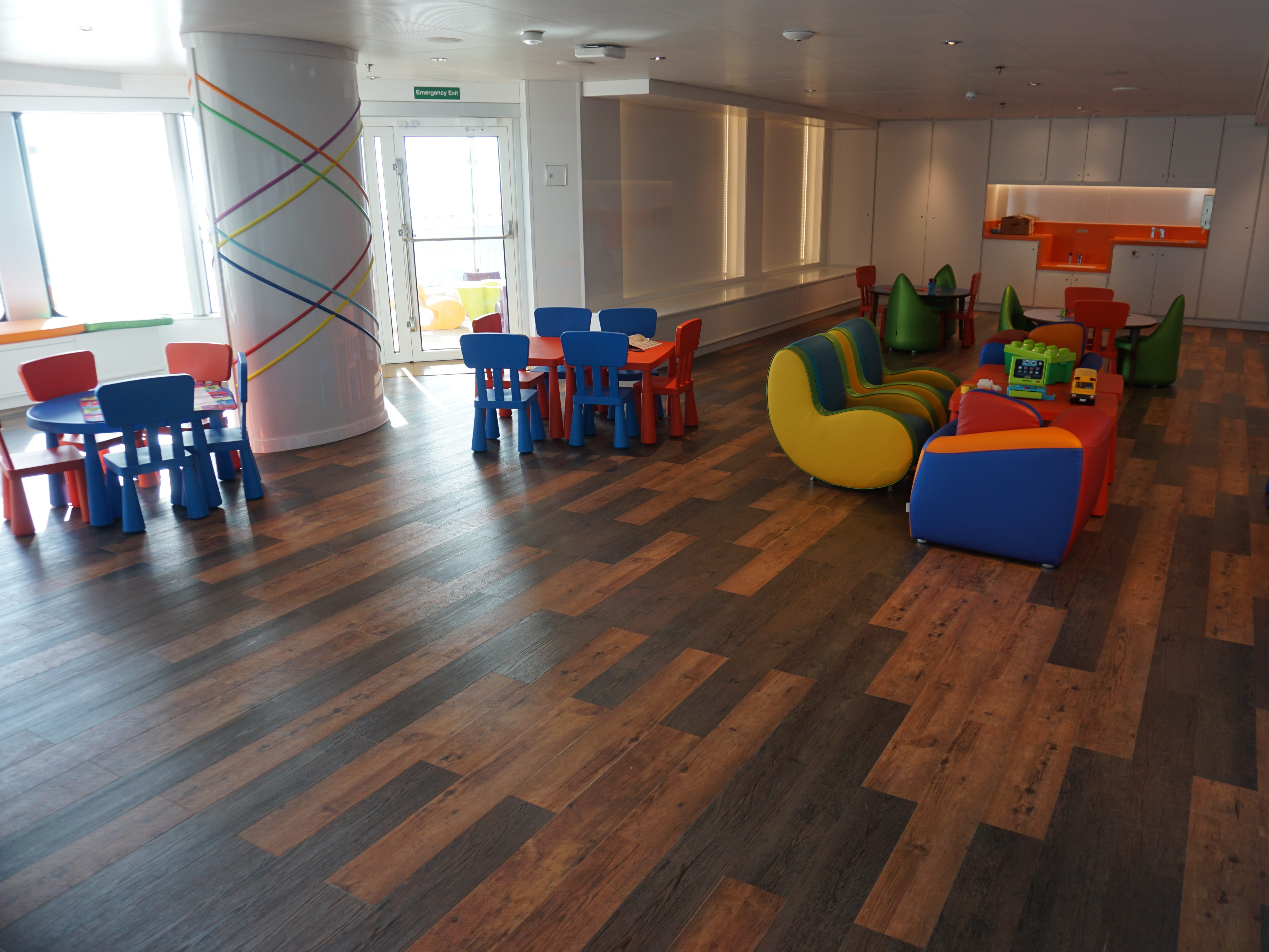 On the port side of Club HAL is a space for kids aged 3 to 6.